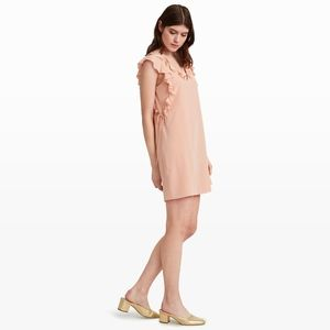 Club Monaco Kiefira Silk Ruffle Dress